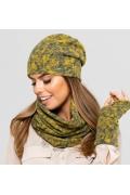Женская шапка горчичного цвета Kamea Austin