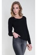 Трикотажная блузка чёрного цвета Zaps Carla