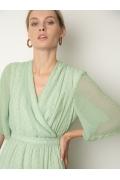 Шифоновое платье зелёного цвета Emka PL1132/clayton