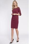 Трикотажное платье с кружевными вставками Sunwear OS225-4-06