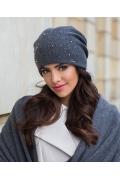 Женская шапка графитового цвета Kamea Penelopa