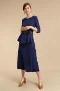 Темно-синяя юбка А-силуэта Emka S847/play