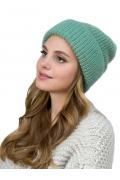 Женская шапка из мохера зеленого цвета Landre Доната