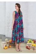 Длинное летнее платье без рукава TopDesign A8 120