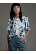 Свободная блуза с акварельным принтом Emka B2513/arusa