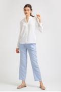Базовая белая блузка с длинными рукавами Emka B2300/jessica