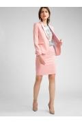 Розовая юбка прямого кроя выше колена Emka S766/fussy