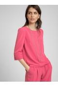 Малиновая блузка прямого кроя Emka B2501/rikara