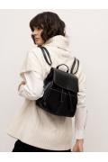 Чёрный рюкзак из экокожи C050/raiden