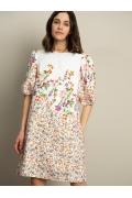 Цветочное платье А-силуэта Emka PL1140/gurela