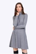 Платье с высоким горлом и длинными рукавами Emka PL829/starla