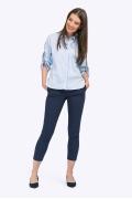 Блузка из голубого стрейч-коттона Emka B2374/nubus
