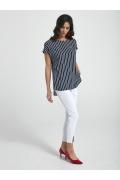 Летняя блузка в сине-белую полоску Ennywear 250044
