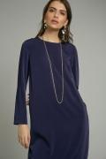 Платье прямого кроя темно-синего цвета Emka PL883/delong