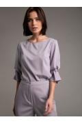 Блузка с драпировкой на рукаве Emka B2463/daily