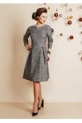 Жаккардовое платье с люрексом TopDesign Festive NB6 08