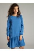 Короткое платье синего цвета Emka PL1105/factory