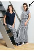 Длинное трикотажное платье на лето TopDesign A7 074