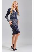 Фактурное платье TopDesign B8 036