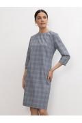 Приталенное платье в клетку Emka PL1197/olen