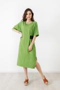 Летнее зелёное платье TopDesign A21059