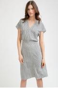 Лёгкое платье в полоску Emka Fashion PL890/blondi