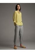 Свободная блуза жёлтого цвета Emka B2540/bakery