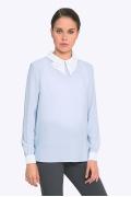Голубая блузка с белым воротничком Emka b 2262/angel