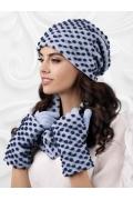 Молодёжный комплект шапка, снуд и перчатки Kamea Grosseto