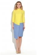 Двухцветное платье Donna Saggia DSP-263-54t