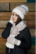 Комплект шапка + шарф + варежки SuperShapka Snowflake