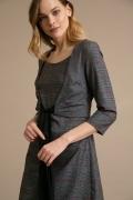 Серое платье в клетку Emka PL953/clover