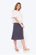 Фиолетовая юбка с резинкой на поясе Emka 705/sanremo