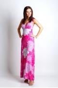 Длинное трикотажное платье TopDesign A4 062