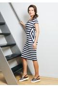 Летнее платье в сине-белую полоску TopDesign A7 057