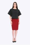 Красная юбка-карандаш для офиса Emka 656/tango