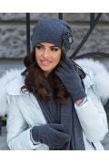 Женская шапка графитового цвета Kamea Giovana