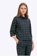 Укороченная блузка в шотландскую клетку Emka B2268/arlon