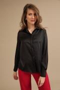 Женская рубашка черного цвета Emka B2348/marfa