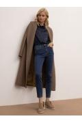 Cиние джинсы зауженного силуэта Emka D160/nirvana