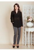 Чёрная шифоновая блузка TopDesign Premium PB6 26