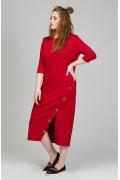 Длинное красное платье прямого кроя Donna Saggia DSPB-20-29t