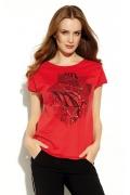 Красная блузка с не обработанными краями Zaps Zaina