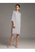 Платье свободного кроя с принтом Emka PL1102/pluto
