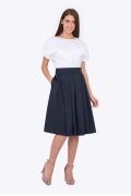 Расклешенная юбка со складками Emka 689/meit