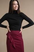 Красная юбка с драпировкой Emka S843/savano