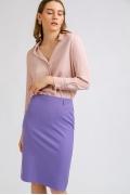 Сиреневая юбка прямого кроя Emka S656/selesta