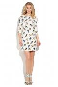 Короткое платье с принтом в виде птичек Donna Saggia DSP-249-79