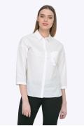 Женская хлопковая рубашка белого цвета Emka B2289/ronda