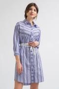 Платье-рубашка сиреневого цвета Emka PL884/oleina